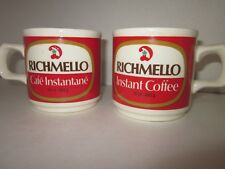 Vintage Dominion Grocery stores Richmello Coffee mugs set of 2 made in Ireland
