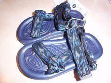 NWT Carter's toddler sandals blue orange adjustable velco straps size 10