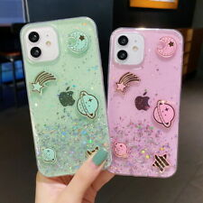 Planet Glitter Clear Soft Case For iPhone 12 Pro Max 11 XR XS X 7 8 SE 2nd Cover