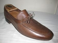 RARE Pierre Cardin Leather Brown Oxfords Mens Shoes Size 10 Made In GREECE.