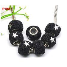 10 perles indonésie noires avec 2 étoiles 14x10 mm PI02