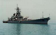 PRINT of USS Missouri (BB-63) at Anchor