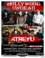HOLLYWOOD UNDEAD / ATREYU 2009 Gig POSTER Portland Oregon Concert