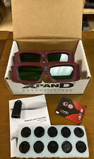 (2) Xpand DLP Link 3D Model  X102 Glasses W/ Original Box & Unused Batteries!