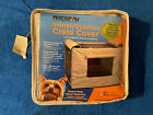 Precision Indoor Outdoor Dog Crate Cover Tan Nylon Canvas 24 inch size 2000 NEW