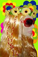 A160✪ Hippie Sonnenbrille 60er 70er Jahre Kult Hornbrille Schlagerparty rot