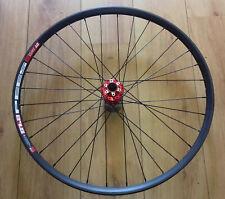 "27.5"" DT Swiss 533d Disc Rims, Red Novatec D791SB Hub Front Wheels,Black Spokes"