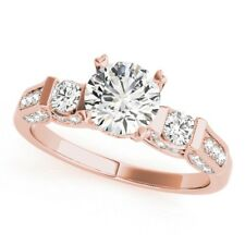 0.93 Carat Real Diamond Engagement Ring 14K Solid Rose Gold Womens Size 6 7 7.5