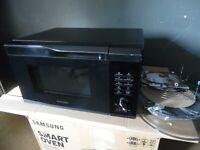 Samsung MC28M6055CK Kombi Mikrowelle mit Grill und Heißluft  900W 28L schwarz