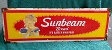 Sunbeam Bread Its Batter Whipped Porcelain Sign