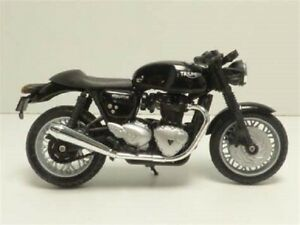 Brand new boxed Welly 1:18 TRIUMPH Thruxton 1200 black motorcycle bike model toy