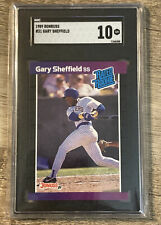 New listing Gary Sheffield Rookie Card 1989 Donruss #31 SGC 10 Brewers Marlins Yankees RC