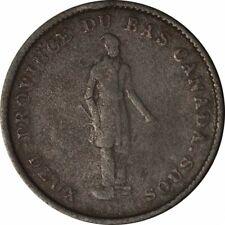 1837 LC-9A1 Quebec Bank Token One Penny Deux Sous!-d779qsc2