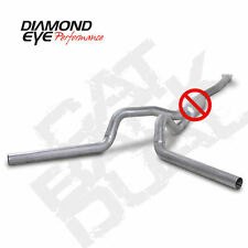 "Diamond Eye 4"" Alum Cat Back Dual No Muff 01-05 Chevy GMC 6.6L Duramax Diesel"