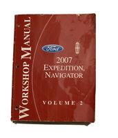 2007 Ford Expedition Lincoln Navigator Service Workshop Shop Repair Manual VOL 2