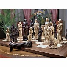 WU90556 Gods of Greek Mythology Chess Set: Heirloom Quality -New!
