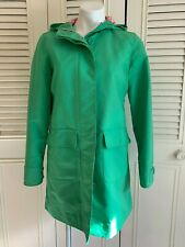 Spring Savings - LL Bean S Green Hooded Fully Zipped And Lined Raincoat