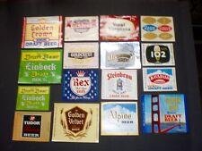 Lot of 16 Vintage Beer Bottle Labels Nos