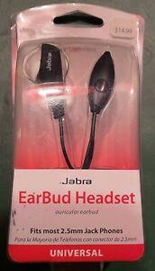 Jabra JABBUDBLK Universal Auricular EarBud Headset - 2.5mm Jack - Verizon NEW
