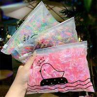 1000x Girls Scrunchie Mini Elastic Rubber Hair Bands Small Plaits Hair Tie Ropes