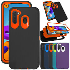 For Samsung Galaxy A21 A01 Case Heavy Duty Shockproof Hybrid Hard PC Phone Cover