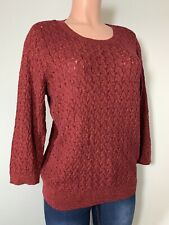 JCP Women's Knit Cable Top Shirt Sweater 3/4 Sleeve Soft Size XL  NWT