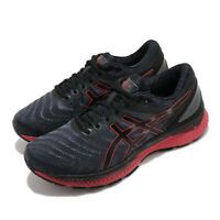 Asics Gel-Nimbus 22 Black Classic Red Men Running Shoes Sneakers 1011A680-003