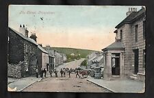 Posted 1909 View of people & cart in a street, Princetown