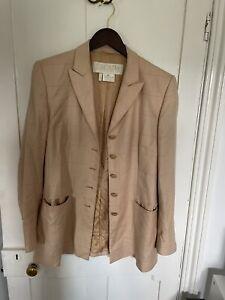 Vintage Escada Blazer Jacket Cashmere And Silk Blend