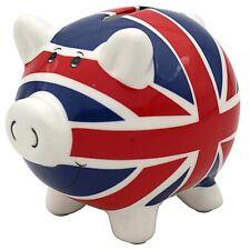 Union Jack Money Box Pig Large