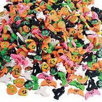 Pack of 24 - Mini Halloween Erasers, Pumpkin, Vampire, Bats, Ghost, Cat, Corn..