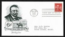 #1039a 6c Theodore Roosevelt - Artmaster FDC