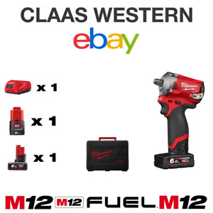 Milwaukee M12FIWF12-622X FUEL 1/2in Impact Wrench with Batteries 6Ah,2Ah & Case