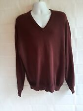 New listing Davis Leadbetter Golf Apparel Jos. A Banks Mens Sweater XL Cotton Burgundy NWOT