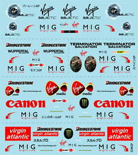 F1 DECALS MUSEUM COLLECTION D537 1/18 FOR BRAWN GP BGP001 5 VERSIONS