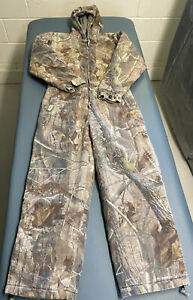 Gander Mountain Size Large Insulated Camo Coveralls RealTree, (Measure 33 x 26)
