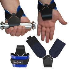 1 Paar Zughilfe Zughilfen Klimmzughaken Latzughilfen Griffhilfen blau NEU
