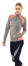 Calmia Women's Performance Training Top Running Top Long Sleeve Yoga Workout Fit