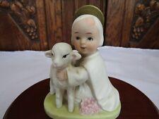Vintage Homco Innocent Child with Lamb- Jesus- 5606- Taiwan ~ 4.5�