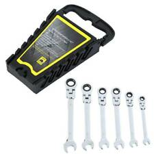 6PCS Gear Wrench Reversible Ratcheting Combination Wrench Flexible Metric