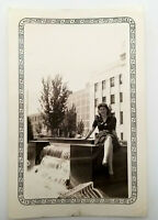 Vintage Photo Sexy Pretty Woman in Dress High Heels in City 1930s Picture
