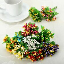 10 colors Artificial Stamen Flowers Bouquet Scrapbooking Wedding Box Decor A20D