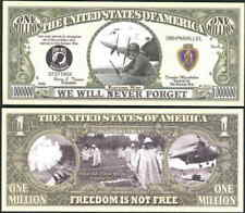 Korean War Memorial Million Dollar Bill Funny Money Novelty Note + FREE SLEEVE
