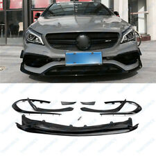 8P Front Bumper Black Spoiler Fit For Mercedes-Benz W117 CLA45 AMG Sport YL2/380