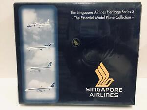 Herpa Singapore Airlines Heritage Series 3 Essential Model Col 1:500 513845