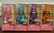 "Lot Of 4 Barbie ""Color Crayon"" Kelly, Lorena, Aa Deidre & Jenny Dolls - Nrfb"