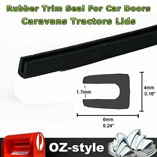 2M U Shape Rubber Seal Trim Car Hood Door Trunk Edge Strip Sealing Protection OZ