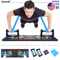 9 in 1 Push Up Rack Board System Fitness Workout Train Gym Exercise Stands H2