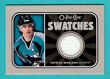 Patrick Marleau 2006-07 O-pee-Chee Swatches GU Game Used Jersey San Jose Sharks