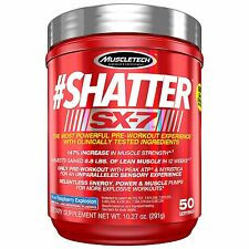 MuscleTech Shatter SX-7 Powder 50 Serv Blue Raspberry Explosion (NO S.TAX EX MN)